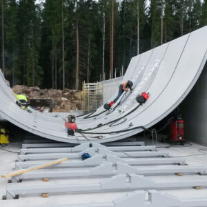 Biogas plant digester structures. Delivery to Sweden.