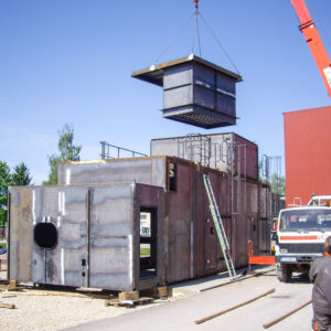 Containers up to 15 tons in weight and 15 x 5 meters in measurements.